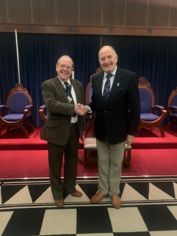 Man on Left - W.Bro David Edwards (President) Man on right - W.Bro Phil Niblock (Guest Speaker)